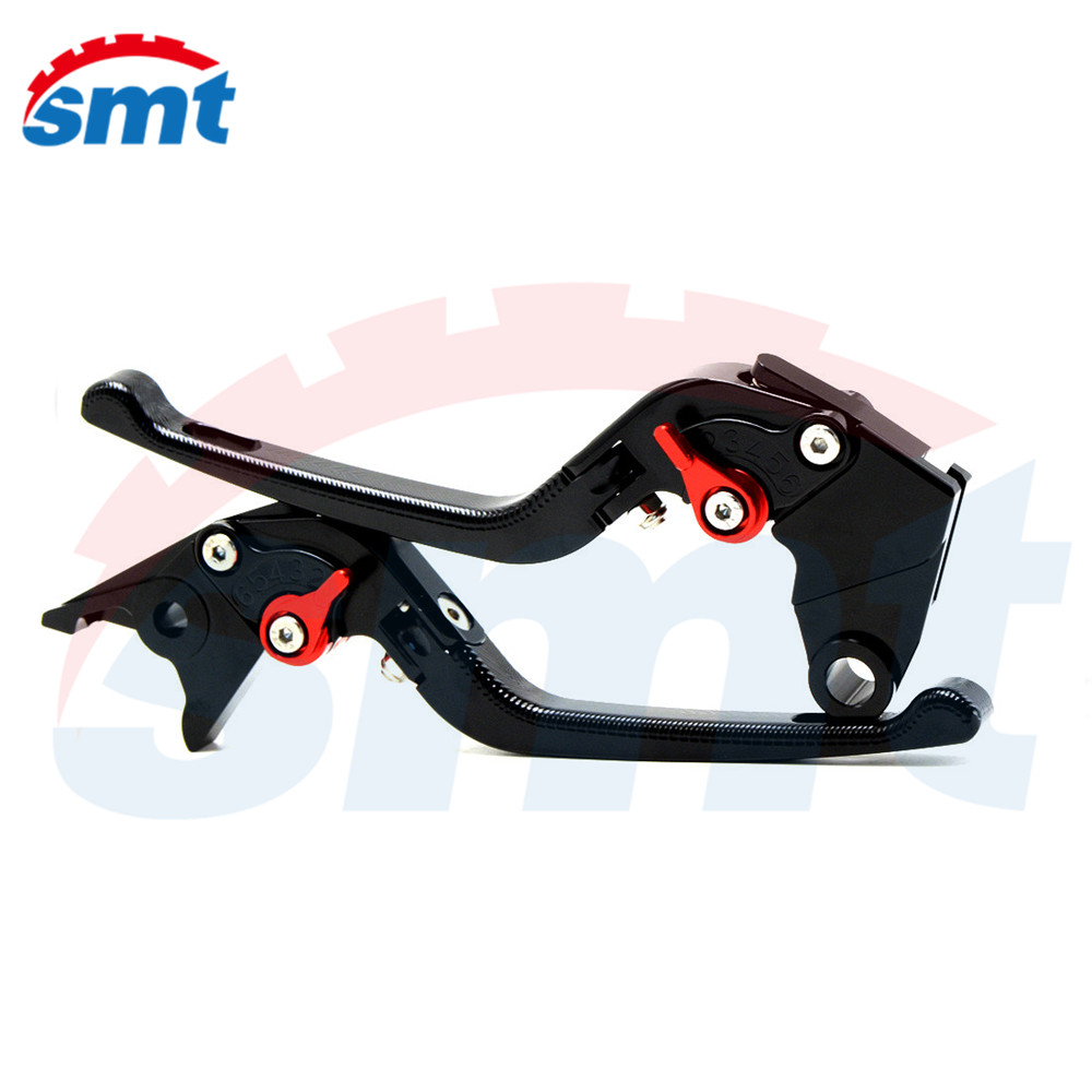 Black New Motorcycle Adjustable CNC Anti-slip 3D Feel Folding Brake Clutch Levers Kawasaki Z800/E version 2013 2014 2015 - SMT ZONE store