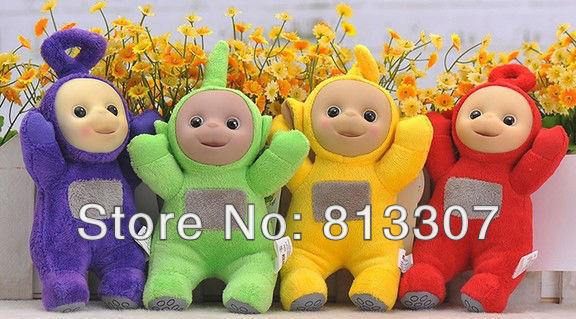 "Teletubby Plush Toy Doll Teletubbies 10"" Laa Tinky Winky Plush toy 60pcs/lot Free Shipping 60/lot"