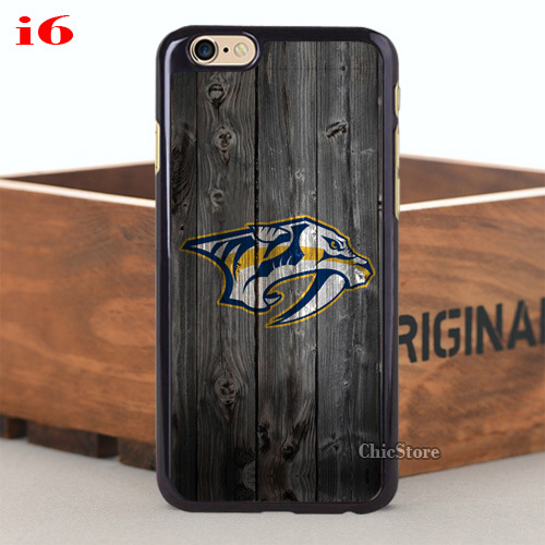 Cool Item Nashville Predators Hard PC Case for iPhone 5 5s 5C 4 4s 6 6plus and Case for Samsung Galaxy Note3 Note4 S4 S5(China (Mainland))