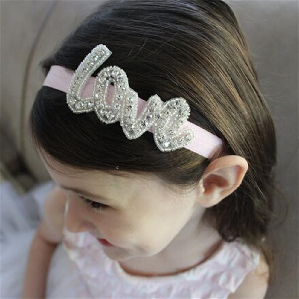"Fashion Baby Diy Headband hair band Diamond Adornment Women Wedding Belt Decoration ""Love""(China (Mainland))"