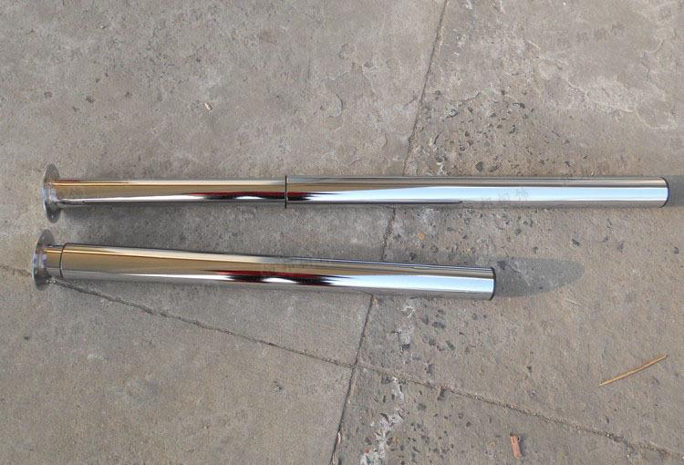 Гаджет  Dia60 * H715-1100mm  Adjustable Round Table Desk BenchTop Leg Feet  Big Adjustability Chrome Bar RV None Мебель