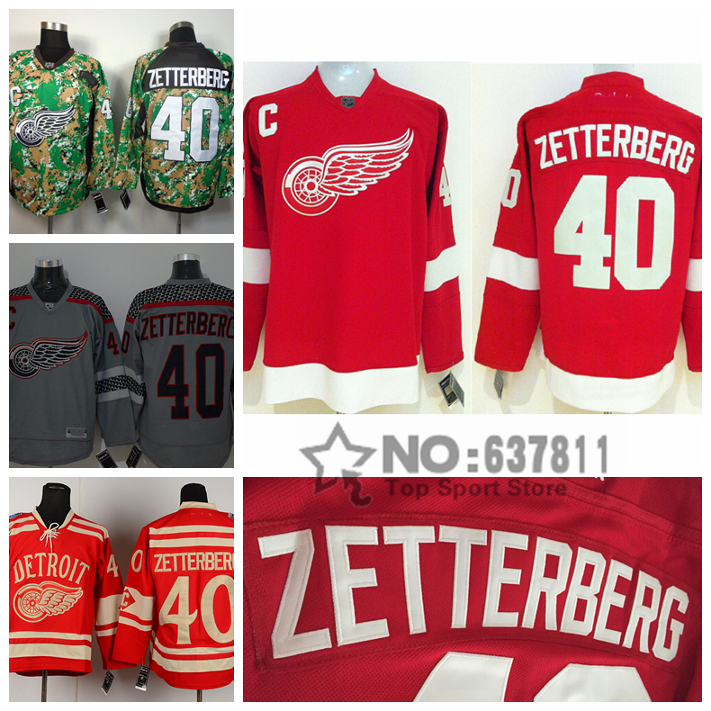 good quality hot sale cheap detroit red wings hockey jerseys 40 henrik zetterberg jersey team