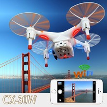 Mini Cheerson CX-30w cx30w 4CH 2.4GHz 4-Axis RC Quadcopter Helicopter Drone With Camera for iPhone Android Wifi Video Drones