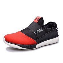 Fashion Casual Men Loafers Sneakers Red Soft Men Loafers Shoes Sport Shoes Breathable Comfortable Driving Shoes
