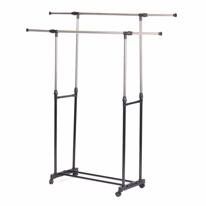 Adjustable Portable Stainless Steel Clothes Hanger Rack Garment Coat Cloth Shoes Dryer airer Stretch Adjustable(China (Mainland))