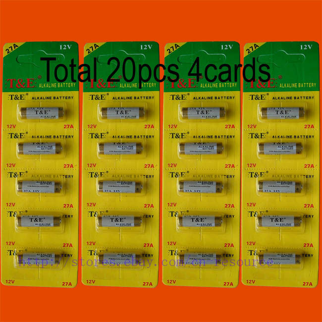 20 x 27A MN27 12V Alkaline Battery(China (Mainland))