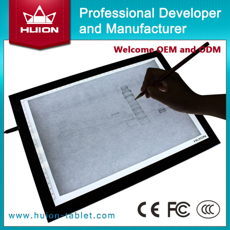 Wholesale New Huion A3 LED Tracing Boards Acrylic Panels Professional Tattoo Light Pad Animation Light Boxes Handwriting Boards(China (Mainland))