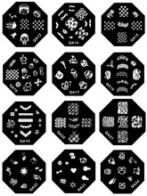New 60 Designs Optional Nail Art Image Stamp Stamping Plates Manicure Template For DIY 1 Plates