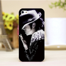 pz0006-1-1-20 Michael Jackson MJ Design cellphone casess For iphone 4 5 5c 5s 6 6plus Hard transparent Skin Shell cover cases