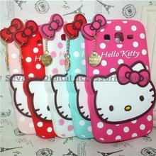 3D Lovely Cartoon Hello Kitty TPU Soft rubber Cute case cover Samsung Galaxy Grand Neo Plus i9060 - Sevan's Digital accessories shop store