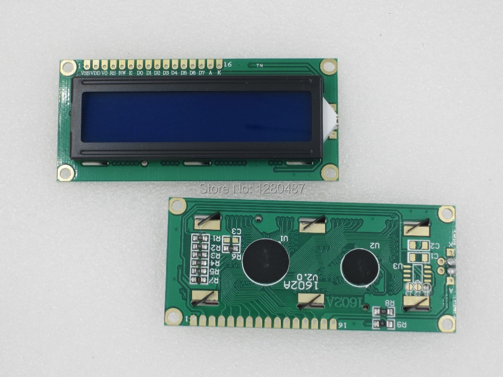 Free shipping !!!! 20PCS/LOT 1602 LCD (Blue Screen) LCD with backlight of the LCD screen 51 learning board supporting 16x2 LCD(China (Mainland))