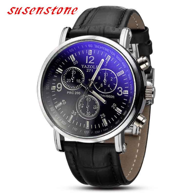 Watch Men quartz Fashion Business Crocodile Faux Leather Wrist Watch Luxury Analog Watches men 2016 relogio masculino Rosonse(China (Mainland))