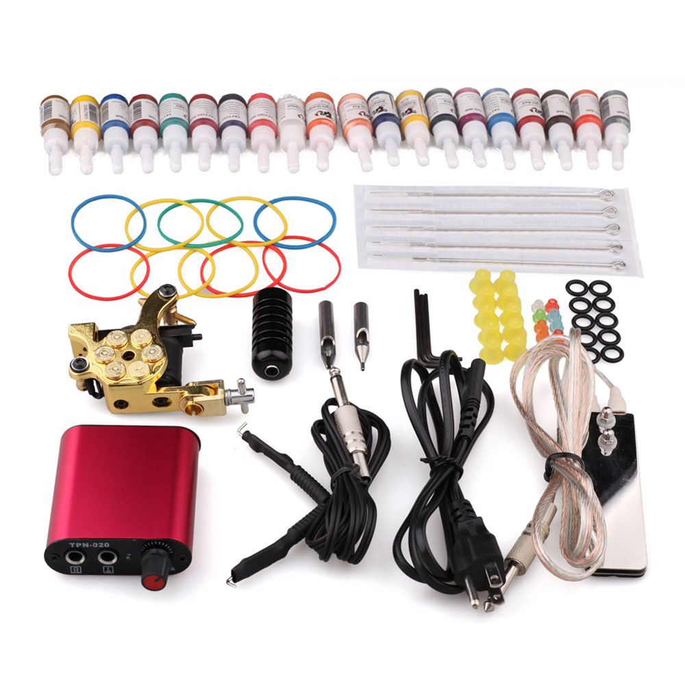 Cheap Professional Complete Tattoo Machine kit 8 wrap coils Pigment Induction Tattoo Machine set for Beginner Body Tatto Art(China (Mainland))