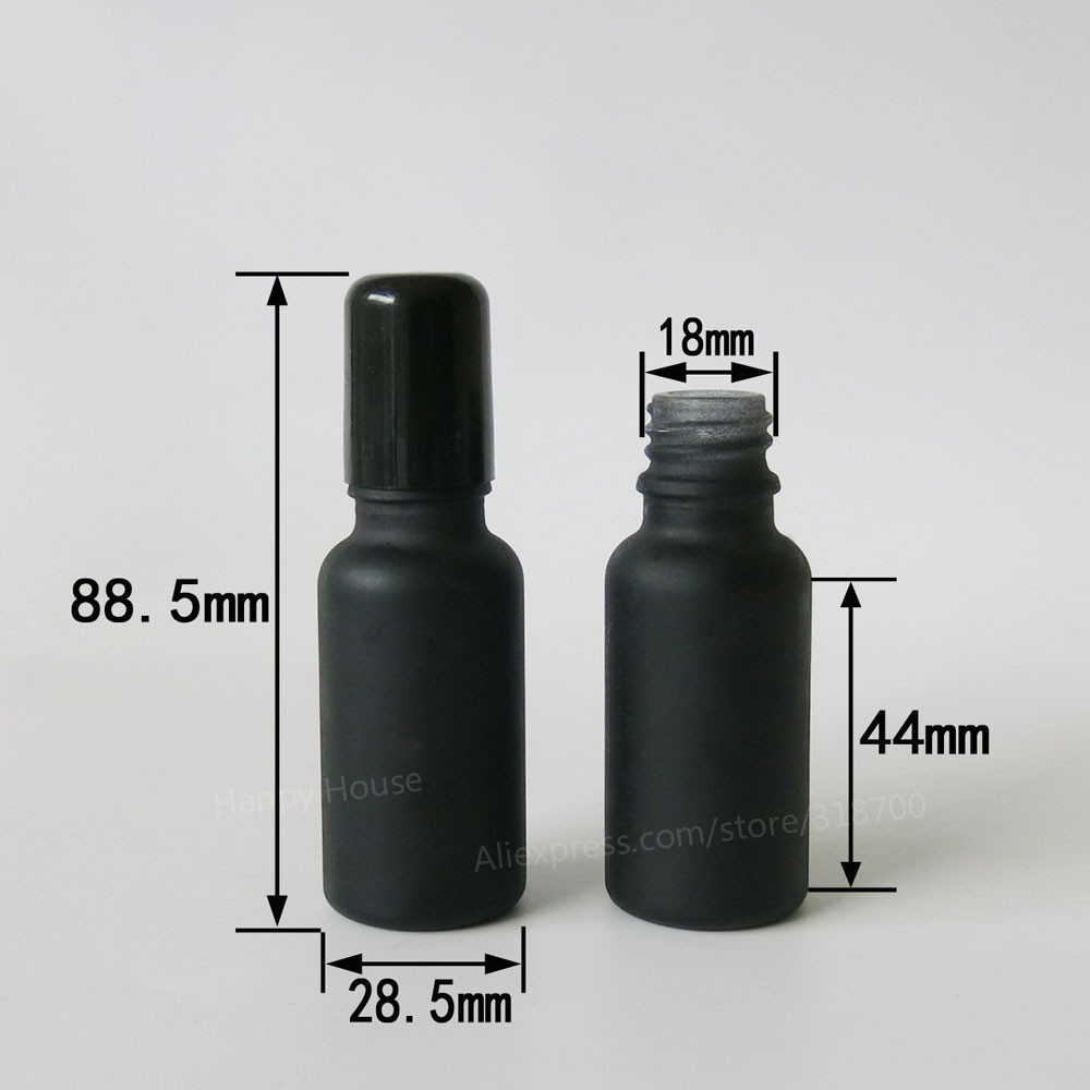 360 x 20 ml Frosted Black  Roll On  Glass Perfume  Essential Oil  bottles, 20 cc glass container<br><br>Aliexpress