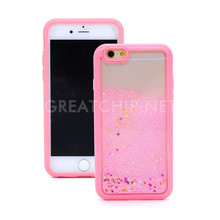 2 in 1 Liquid Glitter Sand Quicksand Star Case for iphone 6 6s 4 7 Crystal