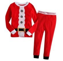 2014 kids Christmas clothing set/New Christmas children pajamas/Long-sleeved cotton Santa costume(China (Mainland))