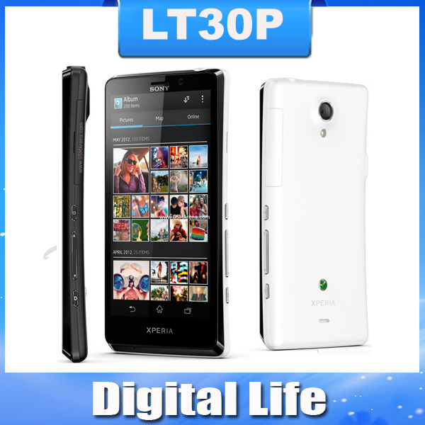 Unlocked Original Sony Xperia T LT30p Mobile Phone 4.6''1280x720 Dual-core 1.5GHz 16GB 13MP 3G GPS WiFi Android 4.0(China (Mainland))