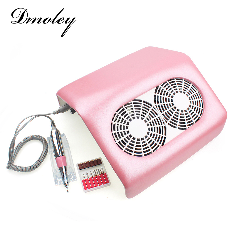Nail Art Equipment 2in1 Electric Nail Drill Machine+Nail Art Salon Suction Dust Collector Manicure For Nail Gel Vacuum Cleaner(China (Mainland))