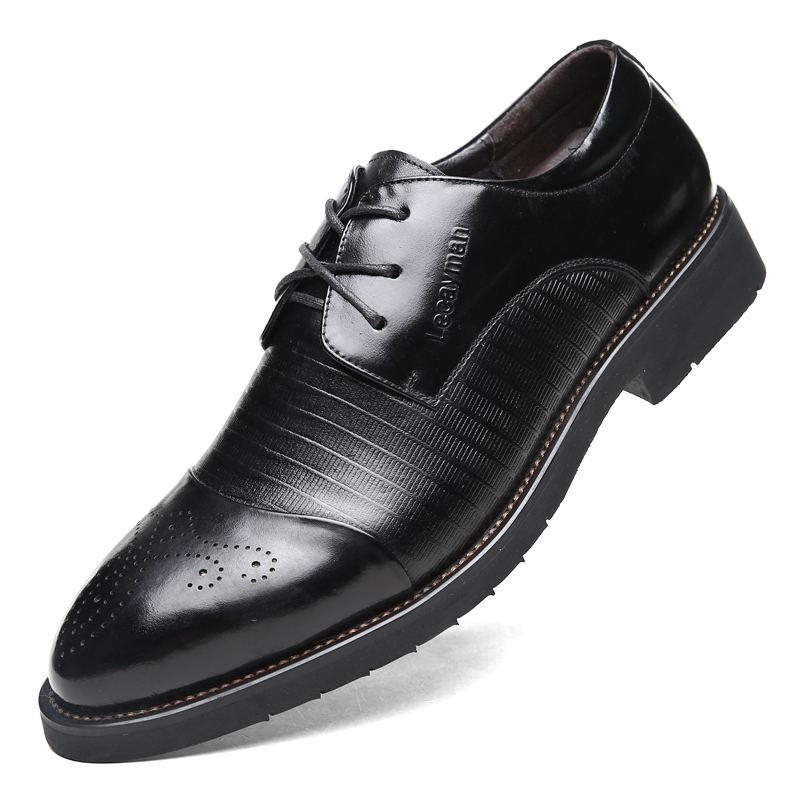 handmade genuine leather dress shoes autumn oxford