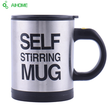 Self Stirring Coffee Cup Mugs Double Insulated Coffee Mug 400 ML Automatic Electric Coffee Cups Smart Mugs Mixing Coffee Cup(China (Mainland))