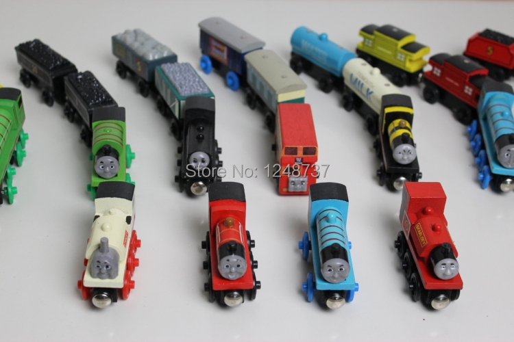 15Pcs/Lot thomas & his friends trains toy set / wooden thomas train with magnet toys for kids, children toys(China (Mainland))