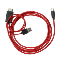 High speed 5pin MHL Micro USB To HDMI Adapter 1 8m Male to male converter cable