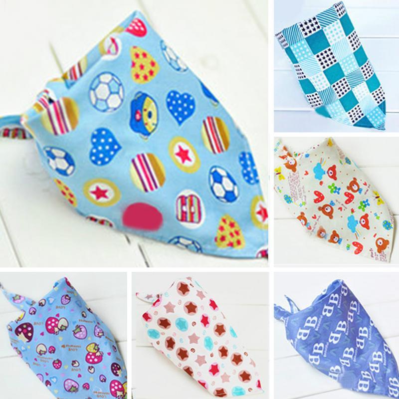 2015 Cute Infant Baby Kid Toddler Bibs Triangle Head Scarf Babador Bandana BoyGirl Saliva Towel Cotton Free shipping(China (Mainland))