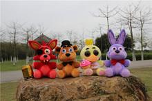 600Pcs/Lot Five Nights At Freddy's 4 FNAF Freddy Fazbear Bear Bear Foxy Chica Bonnie Plush Toys 25cm(China (Mainland))