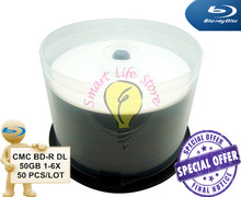 CMC BD-R DL 50GB 1-6X - 50 PCS/Lot - White Inkjet Printable / BD-R 50GB  / blu ray blanks / blu-ray disc / bluray / blue ray(China (Mainland))