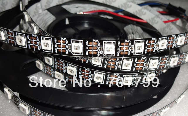 4m DC5V WS2812B BLACK PCB led pixel srip,non-waterproof,60pcs WS2812B/M with 60pixels