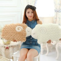 Cute 40cm Sheep plush pillow stuffed plush Cushion sheep plush toys(China (Mainland))