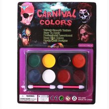 Halloween 8 Color 1 Set Cosmetic Face Body Paint Tattoo Oil Painting Art Party Fancy Dress DIY Tools(China (Mainland))