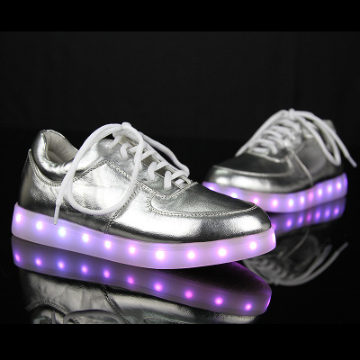 7 Colors LED shoes 2015 Men & Women Sneakers Luminous shoes USB Charging Colorful LED lights Sneakers Shoes Zapatos Hombre Mujer(China (Mainland))