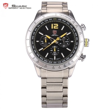 Buy Pacific Angel Shark Sport Watch Brand 24 Hours Display Luminous Black Yellow Steel Band Relogio Men Quartz Wrist Watches /SH317 for $54.99 in AliExpress store