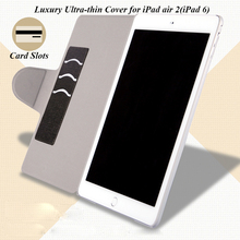 3 in 1 Luxury Ultra-thin PU Leather Stand Cover Case+Screen Protector +Stylus Pen for iPad Air 2 9.7 inch with Wake &Sleep(China (Mainland))