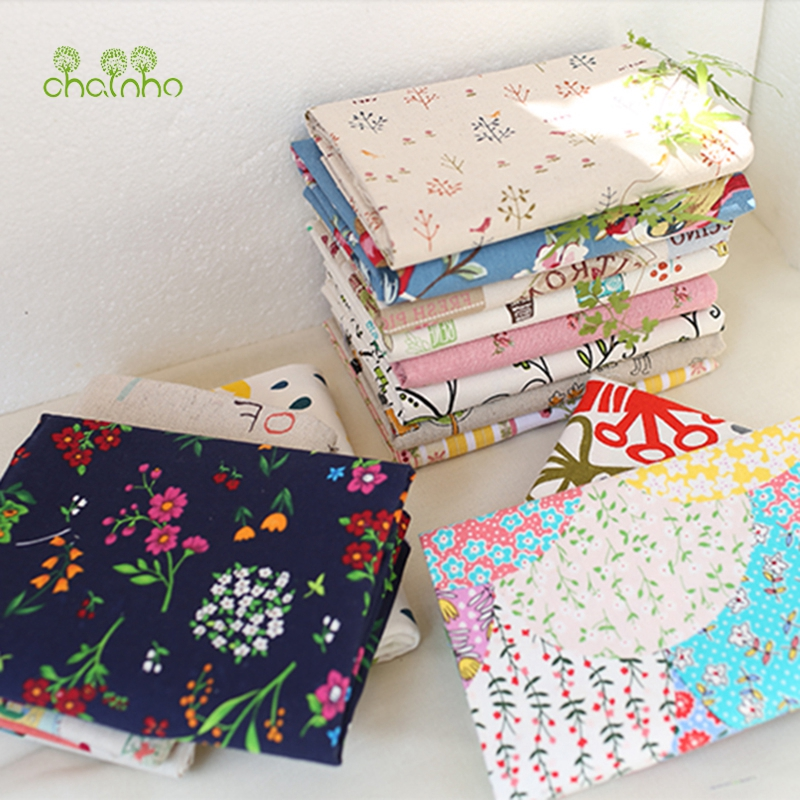 Printed Cotton Linen Fabric For Patchwork Quilting Sewing DIY Sofa Table Cloth Furniture Cover Tissue Curtain Bag Cushion Fabric(China (Mainland))