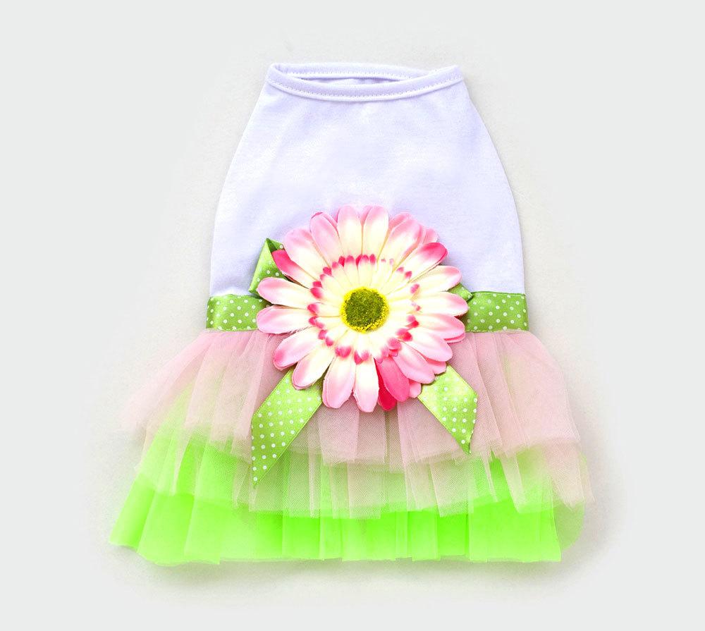 Sunflower Princess TUTU Dress Skirt Cat Puppy Small Girl dog Clothes XS~XL(China (Mainland))