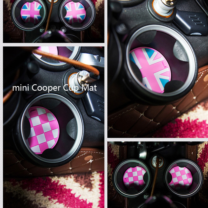 Car Girl 39 S Pink Interior Non Slip Cup Mat For Mini Cooper R55 R56 R60 Countryman F55 F56 In