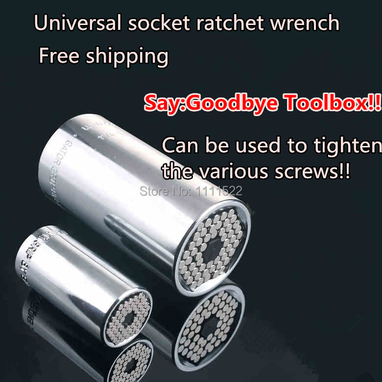 gator grip wrench 7 19MM in 1pcs Universal socket ratchet wrench Fool inch sleeve Magic