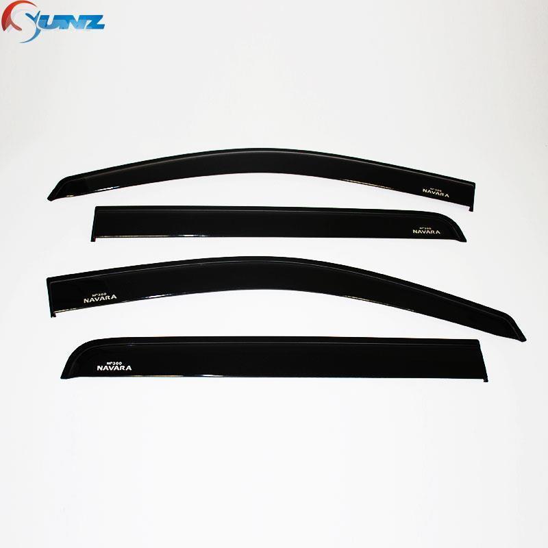injection window visor Nissan navara black car wind deflector guard np300 2014 2015 vent door - Ycsunz Store store