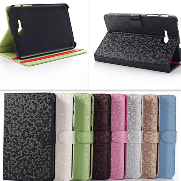 360 Rotating diamond stone Leather Case for Samsung tab3 lite 7.0 T110 T111 Tablet Protective case Free Shipping<br><br>Aliexpress