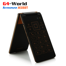 "New arrival original lenovo A588T MTK6582M quad core 512MB RAM 4GB ROM dual sim 4.0"" 5MP camera old man mobile celular phones(China (Mainland))"