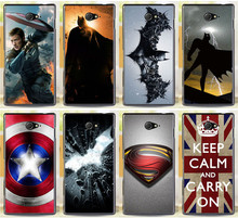 Buy Painted Cases Covers Sony Xperia M2 S50h Dual D2302 D2305 D2303 D2306 Batman Superman Captain America Phone Case Cover Shell for $1.44 in AliExpress store
