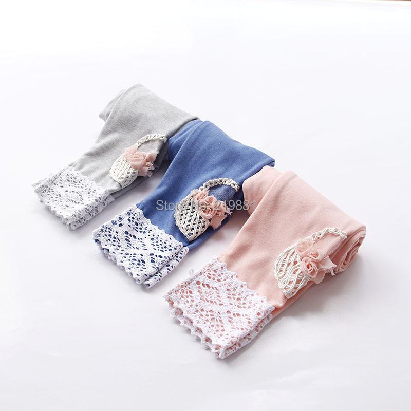 Wholesale ! Girls autumn flower lace leggings , leggings kids , 5pcs/lot   YSH01<br><br>Aliexpress