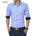 Plus Size Men Shirt XL-7XL Camisa Masculina Chemise Homme Spring Autumn Dress Brand Clothing Men Long Sleeve Shirts High Quality