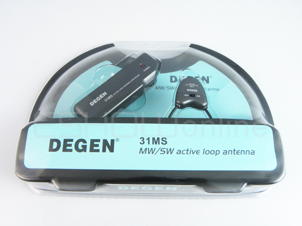 NEW DEGEN DE31MS INDOOR ACTIVE SOFT LOOP ANTENNA FOR MW & SW A0797A(China (Mainland))