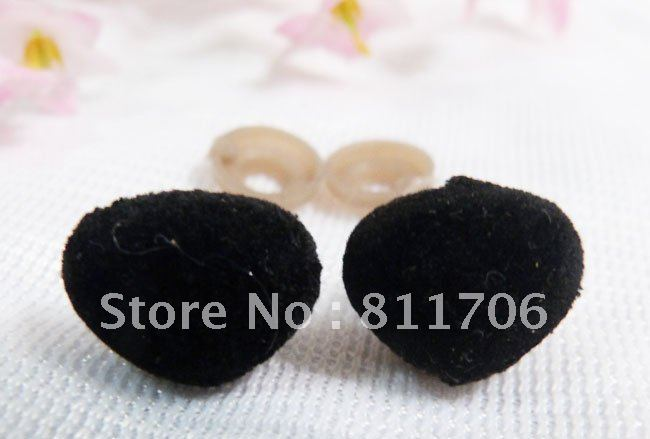 14*18mm triangle flock Toy Safety  Nose with washers For Bear  Doll Decoration/300pcs