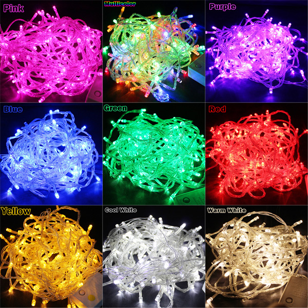 20m 200 led light christmas party 9 colors available outdoor anti rain