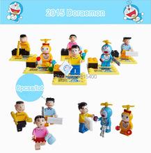 Kids DIY Toys Cartoon Anime Doraemon Mini Figure Plastic Model Kits Building Bricks Blocks Compatible LEGOE Educational Toys