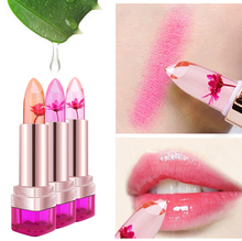 2016 Temperature Change Color Lip Balm 3 Color Waterproof Long-lasting Sweet Transparent Jelly Flower Pink Moisturizer Lipstick(China (Mainland))